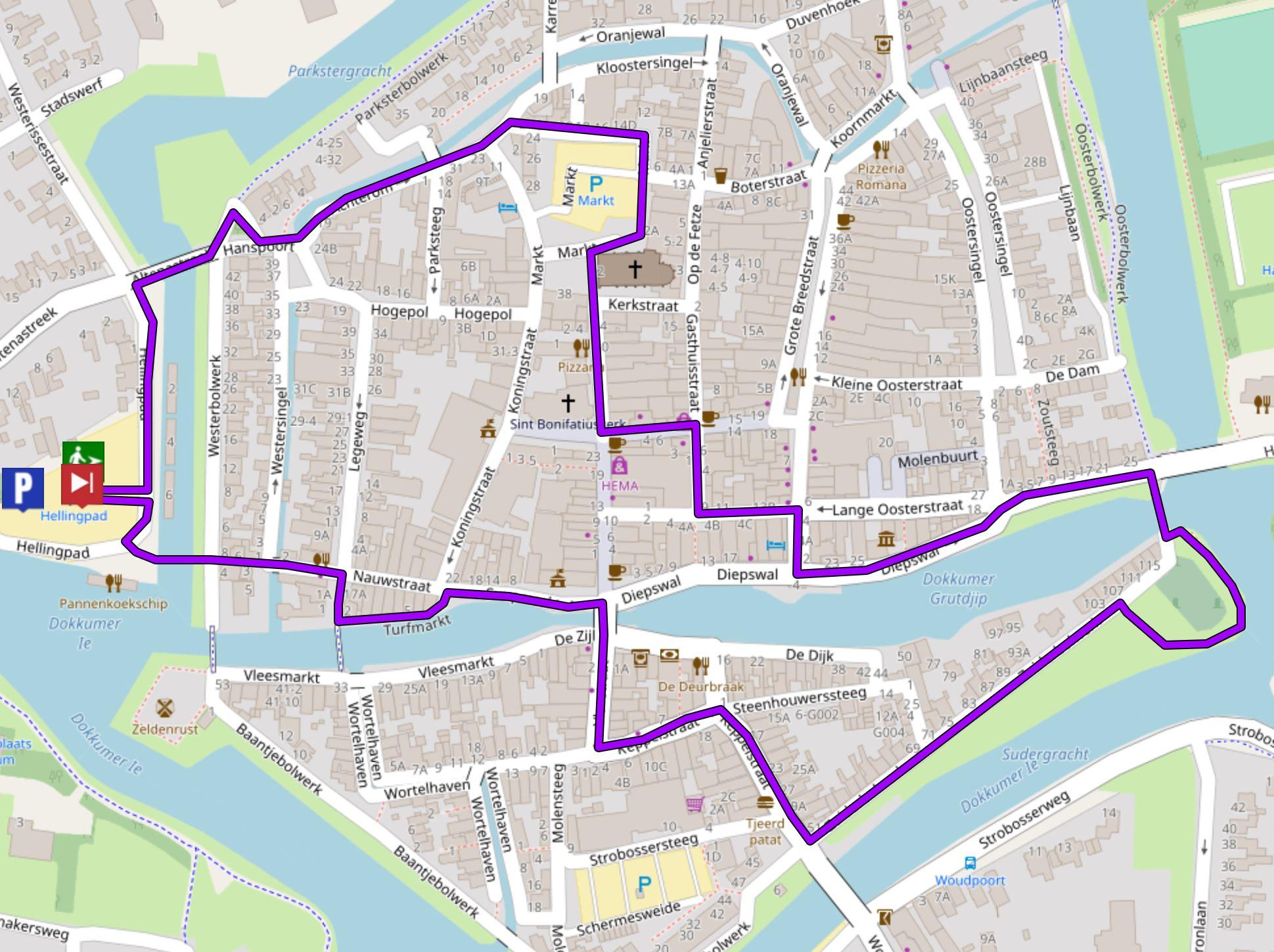 route dokkum